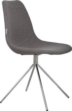 Zuiver – Stuhl FOURTEEN Chrom/Grau