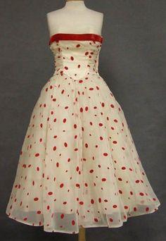1950s Prom Dress, 1950s Party Dresses, Vintage Dresses 50s, Vintage Prom, Vintage Outfits, Prom Dresses, Wedding Dresses, Vintage Clothing, 1950s Fashion