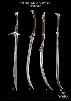Celebrimbor's sword concept art - weapons sword lord of the rings Katana, Swords And Daggers, Knives And Swords, Tolkien, Larp, Hobbit, Armes Concept, Shadow Of Mordor, Armas Ninja