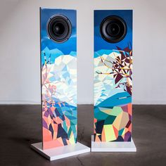 Really cool concept!! Artistic audiophile gear: Urban Fidelity Art Speakers Adds the Element of Sight to Sound