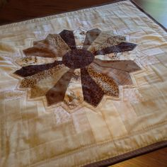 Table Topper/Runner, brown by mommomsquilts on Etsy