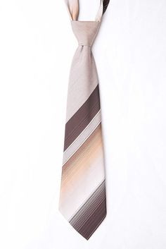 Vintage HG Brown Striped Mens Kipper Tie - WIDE