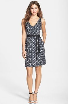 Plenty by Tracy Reese 'Thea' Print Faille Fit and Flare Dress (Regular and Petite) | Nordstrom