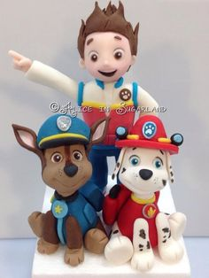 A few characters of Paw Patrol serie cake. Funny huh???