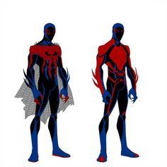 Spider-Man 2099 costume variant by shorterazer on DeviantArt Spiderman Drawing, Spiderman Art, Marvel Heroes, Marvel Characters, Marvel Dc, Ghost Rider 2099, Spider Man 2018, Spiderman Suits, Scarlet Spider