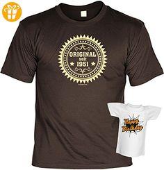 Geschenk zum 66. Geburtstag 66 Jahre Geschenkidee zum 66 Geburtstag Geburtstagsgeschenk T-Shirt Original seit 1951 Set mit Minishirt (*Partner-Link)