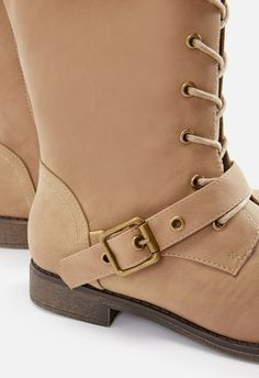 Delphinia Lace-Up Sweater Boot in Taupe - Get great deals at JustFab  Sweater Boots 93d30a6d7