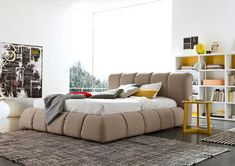 Luxury super comfy soft padded Italian designer beds by SMA Mobili. We supply in lots of different fabrics, colours and sizes.