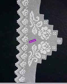 Crochet Lace Edging, Crochet Diagram, Filet Crochet, Crochet Doilies, Smocking Tutorial, Projects To Try, Design, Crochet Edgings, Doilies