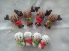 Christmas amigurumi phone straps  You can find them in my Etsy shop  https://www.etsy.com/it/shop/RedFoxCreatures?ele=shop_open]
