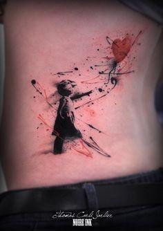Resultado de imagem para trash polka tattoo on ink master Badass Tattoos, Body Art Tattoos, New Tattoos, Tatoo Art, Tattoo You, Krebs Tattoo, Coeur Tattoo, Banksy Tattoo, Trash Polka Art
