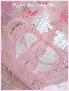 Shabby Pink Chic Distressed or Full Cover Paint Finish Wall / Bed Crown Pink Princess French  Nursery / Baby Girl Photo Prop Fleur De Lis by sweetlilboutique on Etsy https://www.etsy.com/listing/170560577/shabby-pink-chic-distressed-or-full