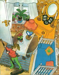 Lotta's Christmas Surprise by Astrid Lindgren Storybook Homes, Pippi Longstocking, Children's Book Illustration, Color Splash, Childhood Memories, Childrens Books, Illustrators, Retro, Drawings