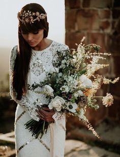 wild + lush bridal bouquet