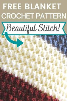 Afghan Crochet Patterns, Crochet Stitches For Blankets, Crochet Stitches For Beginners, Crochet Stitches Free, Knit Or Crochet, Crochet Crafts, Knitting For Beginners, Tunisian Crochet Blanket, Different Crochet Stitches