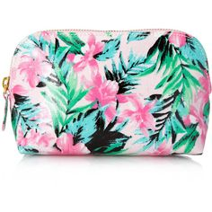 FOREVER 21 Island Life Small Cosmetic Bag found on Polyvore