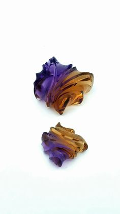 Bolivian Ametrine is one of the most dynamic color combination gems ever. This is a fun new piece that is flawless in clarity.