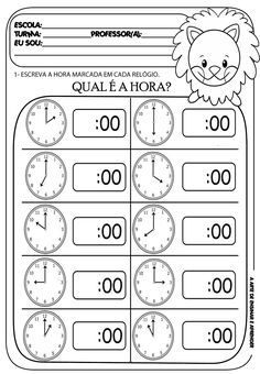 In this kindergarten math worksheet, kids give Melissa Mouse a hand telling time. Kids will look at an analog clock, determine the time, and write the time. Teaching Time, Teaching Math, Teaching Geography, Kindergarten Math Worksheets, Clock Worksheets, Matching Worksheets, Kids Worksheets, Math Math, Homeschool Math