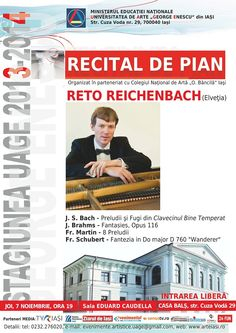 """Recital de pian la Universitatea de Artă """"George Enescu"""" din Iasi"""