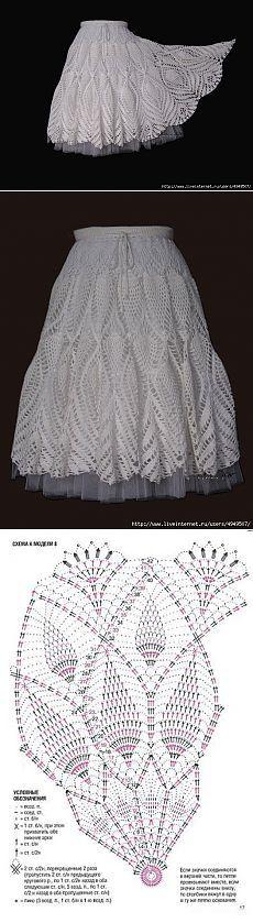 Белая длинная юбка.