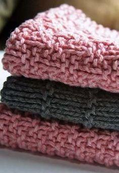 Kitchen Knitted Dishcloths - set of 3 - Knitting Patterns by Deb Buckingham
