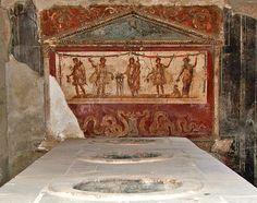 "- Un ""thermopolium"" (una specie di ""tavola calda"") a Pompei. - A fresco from the thermopolium of Lucius Vetutius Placidus in the city of Pompeii Scavi di Pompei Follow on Instagram @pompeiiruins #Pompei #pompeii #mosaic #pompeiiruins #scavidipompei #italy #ancient #Archaeology #vesuvio #vesuvius #ercolano #near the Ruins : www.bedandbreakfastpompei.com Pompei apartments : www.pompeishortlets.com"