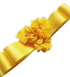 Wedding Sash Belt, Evening Dresses For Weddings, Sash Belts, Handmade Flowers, Belted Dress, Fashion Brands, Third, Romantic, Amazon