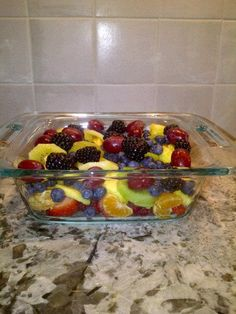 Chakra Salad. I made this prior to a chakra balancing meditation. Raspberries, strawberries (root), oranges (sacral), pineapple (solar), kiwi (heart), blueberries (throat), blackberries (brow/third eye), and purple grapes (crown) :)