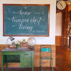 """""""The home should be a treasure chest of living."""" 