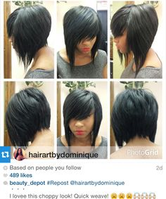 Loving this layered bob via ❤️✂️ Weave Hairstyles, Pretty Hairstyles, Girl Hairstyles, Short Hair Cuts, Short Hair Styles, Bobe, Dream Hair, Hair Photo, Hair Today