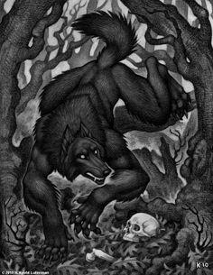 Real Werewolf Sightings | Scary Werewolf Drawings
