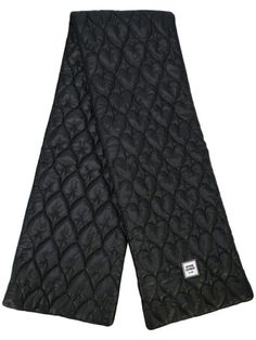Opening Ceremony Quilted Scarf In 0001 Black Designer Scarves, Motif Design, Black Quilt, Opening Ceremony, Womens Scarves, World Of Fashion, Patterned Shorts, Baby Design, Women Wear