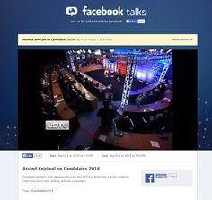 Arvind Kejriwal on Candidates 2014 on Facebook Talks Live - wide shot