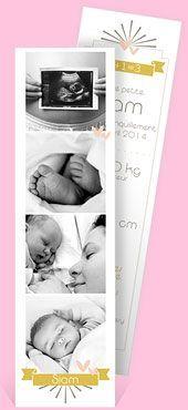 Faire-part naissance marque page, réf. N20108