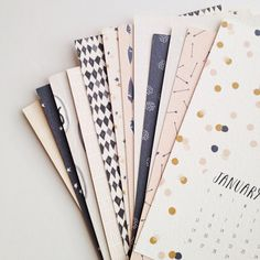 Pattern & Post Card 2014 Calendar by stationeryboutique on Etsy, $30.00 // Such a good idea; at the end of the month, you cut off the top half of the calendar and use it as a postcard! Perfect.