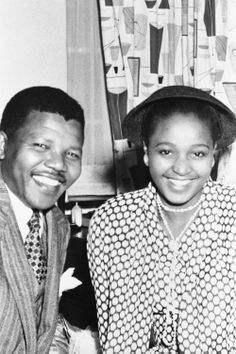 Mandela and his second wife, Winnie Madikizela, on their wedding day, in Pondoland, South Africa, June, 1958. Photograph: API/Gamma-Rapho/Getty.