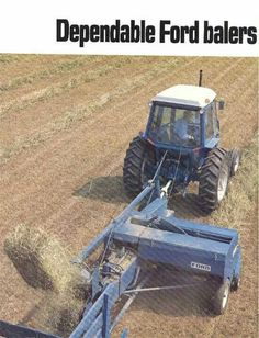 Agriculture, Farming, Baler, Ford Tractors, Engin, Vintage Farm, New Holland, Monster Trucks, Tractor