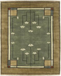 The Ginkgo Rug PC-21B, The Persian Carpet, Mission Rugs