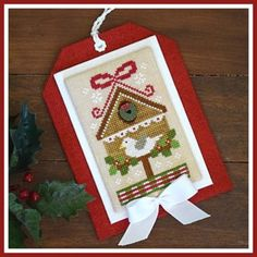 Christmas Birdhouse is the title of this cross stitch pattern from Country Cottage Needleworks Classic Ornament series that is stitched with DMC and Classic Colorworks (Hazelnut). Click on highlighted link to add the button pack to your shopping cart.