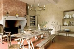 kitchen-with-fireplace