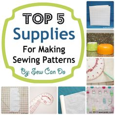 Top 5 Supplies For Making Your Own Sewing Patterns
