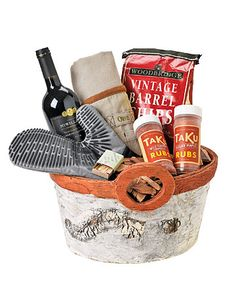 Give Dad a grill-themed gift basket for Father's Day this year!