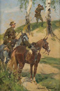 W.Kossak Military Art, Military Uniforms, Warrior 1, Russian Revolution, Horse Art, World War Ii, Renaissance, Medieval, War Horses