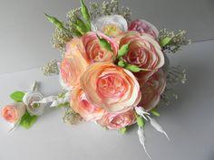 Bouquet de mariée mariage et boutonnière en papier Origami