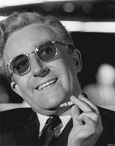 """Strangelove directed by Stanley Kubrick. With Peter Sellers, George C. Scott, and Slim Pickens. President Muffley: """"Gentlemen, you can't fight in here! This is the war room! Stanley Kubrick, Classic Hollywood, Old Hollywood, Slim Pickens, Dr Strangelove, Epic Fail Pictures, Hooray For Hollywood, Great Films, Movies"""