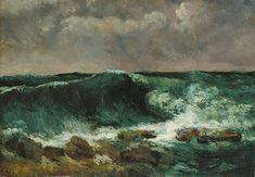 @staedelmuseum Gustave #Courbet dieses #Naturschauspiel an der #Küste der #Normandie gemalt. #normandy #coast. #waves Gustave Courbet, Die #Woge, 1869