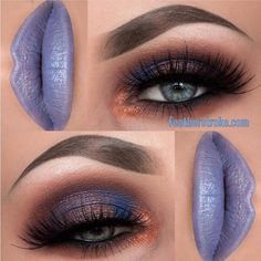 the eyes! center of lid looks like duochrome, but could be done with blue and copper separately
