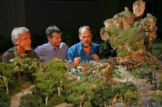 James Cameron, Walt Disney Parks & Resorts Chairman Tom Staggs and Imagineer Joe Rohde View a Model of the AVATAR-Themed Land Coming to Disn...