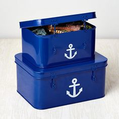Blue Anchor Metal Boxes