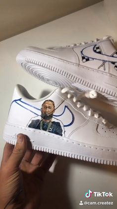 Hussle Custom painted Air Force Ones with a portrait of Nipsey Hussle and racing flags. Get your own at Custom painted Air Force Ones with a portrait of Nipsey Hussle and racing flags. Air Force Ones, Air Force One Shoes, Nike Air Force 1, Custom Vans Shoes, Custom Painted Shoes, Custom Sneakers, Sneakers Fashion, Shoes Sneakers, Shoes Jordans